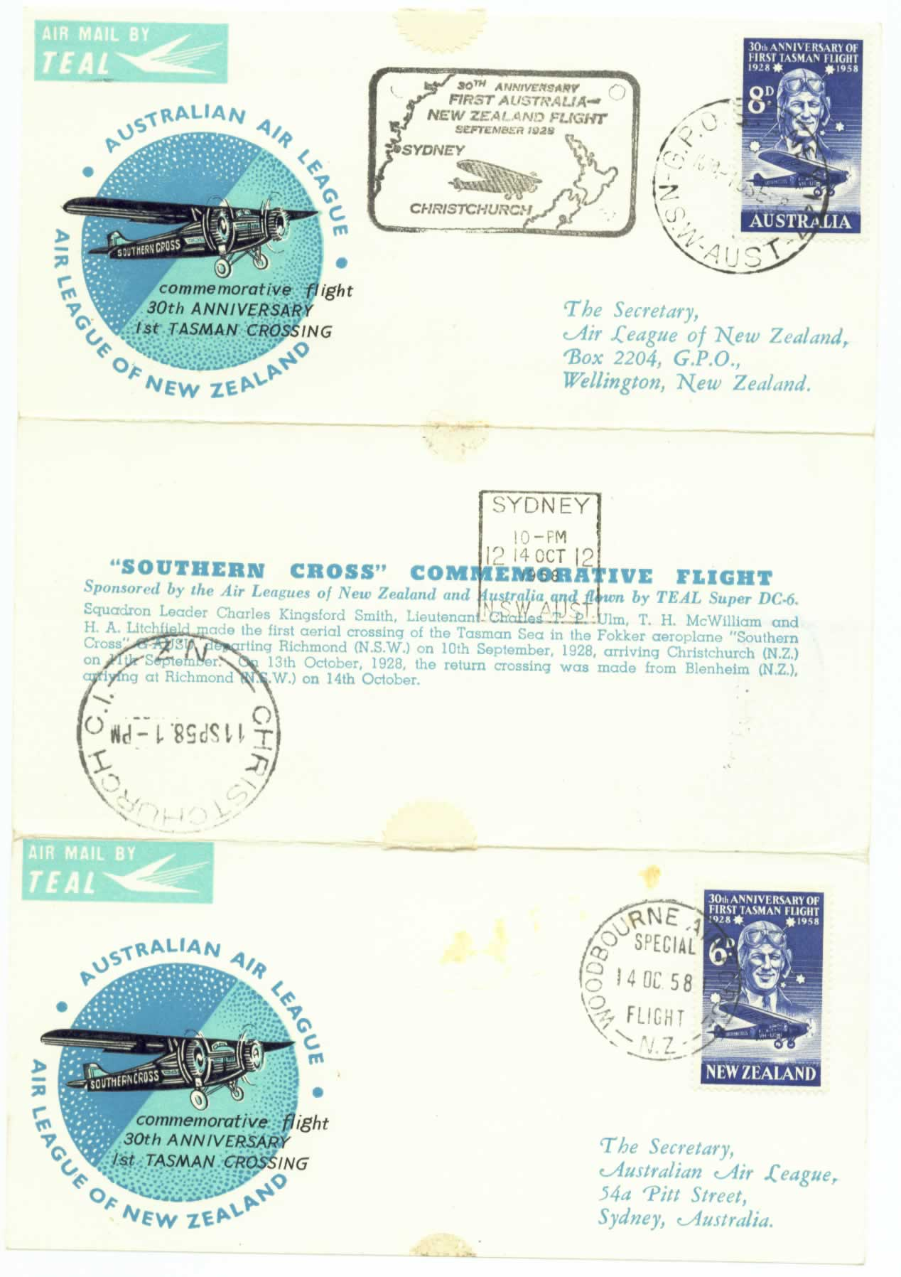 Air Leagues of New Zealand and Australia