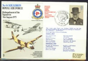 No 46 Squadron RAF - Stamp Cover Collection