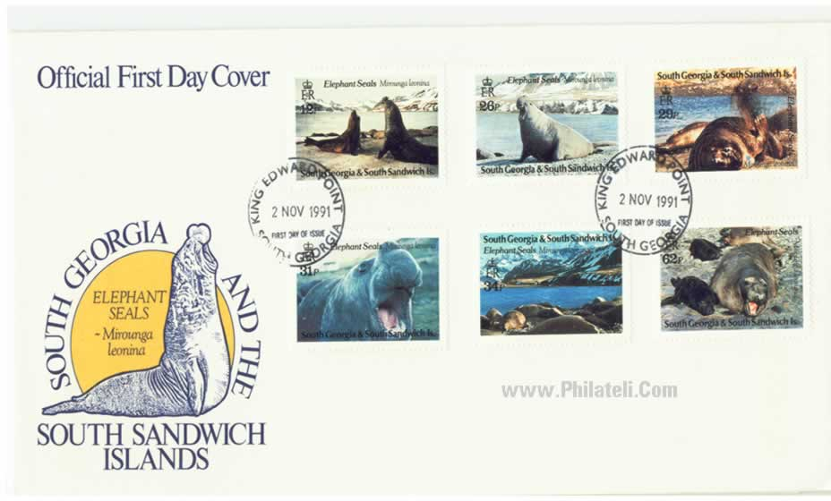 Elephant Seals - Stamps of SOUTH GEORGIA & South Sandwich Island