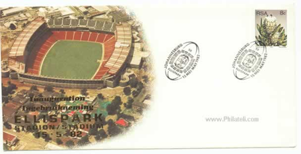 Ellis park Stadium on postage stamp