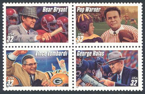 Stamps on Sports - Football coaches