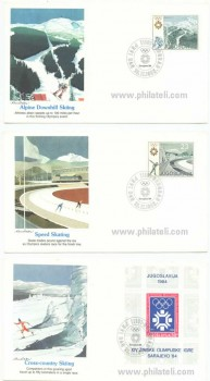 1984 Winter Olympics - Stamps Collection