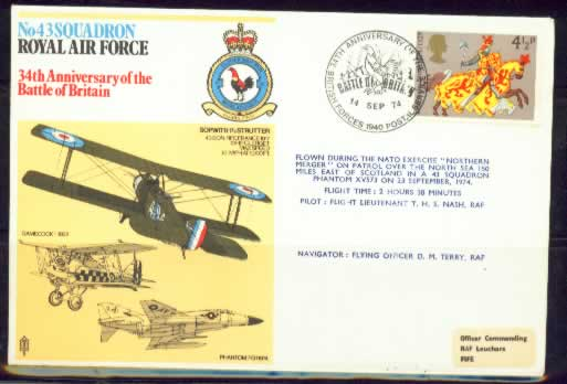 Glory is the end RAF - Postmark Stamp cover