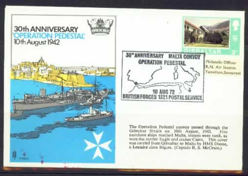 Operation Pedestal RAF Stamp Cover