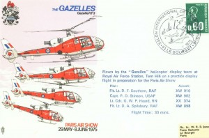 The Gazelles - Air Show Postmark stamp cover