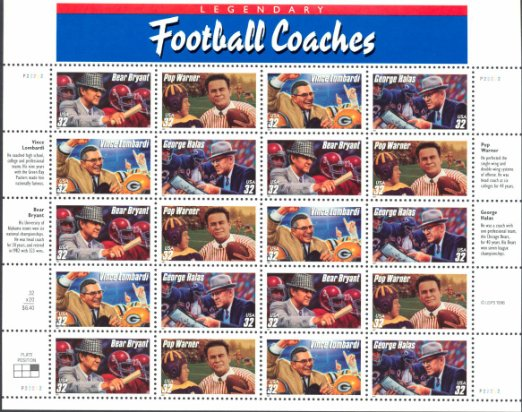 USA Football Coaches stamps
